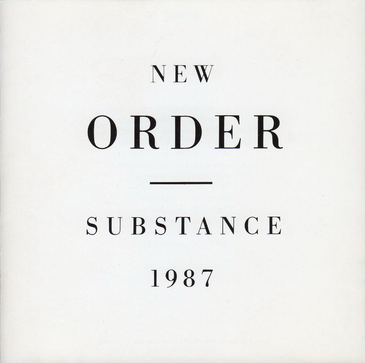 New Order – Substance, (1987) by Peter Saville