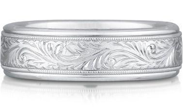 14K White Gold Wedding Bands for Men and Women: Beyond Plain Wedding Rings | ApplesofGold.com