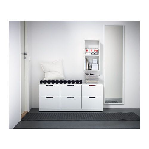 ikea nordli chest of 6 drawers white cm you can use one modular chest of drawers or combine several to get a storage solution that perfectly suits