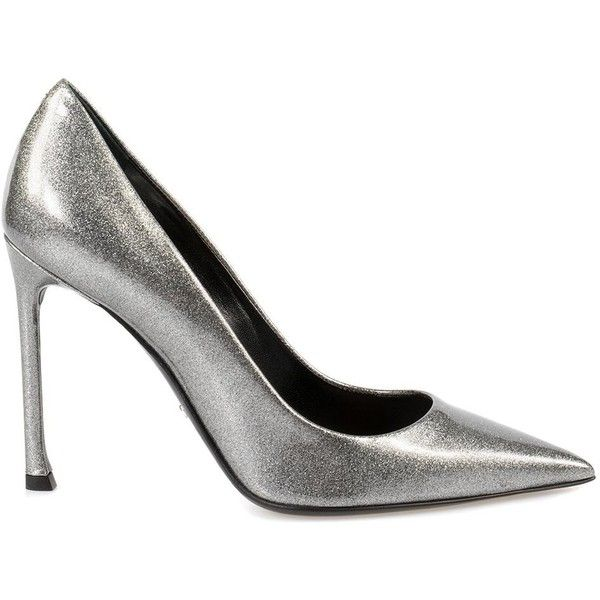 Christian Dior Patent Calfskin Pump featuring polyvore women's fashion shoes pumps dior footwear grey grey patent pumps pointed toe high heel pumps grey pumps patent pumps utility pump