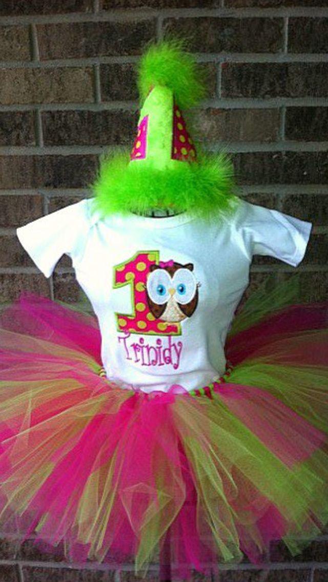 1st Birthday Owl Tutu Set