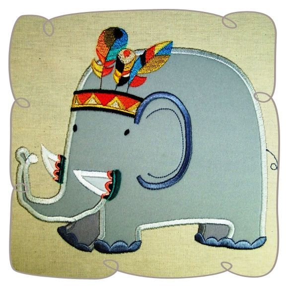 Elgor Elephant machine Embroidery Design Pattern-INSTANT DOWNLOAD