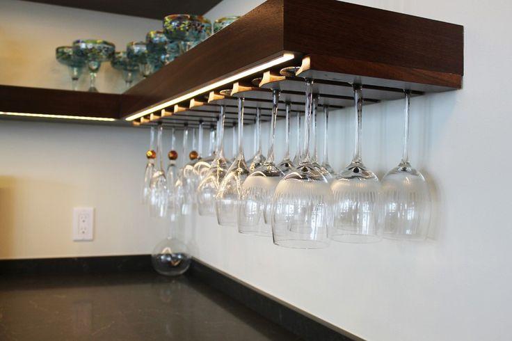 Wine Glass Shelf Kitchen Transitional with Storage Top Bar Carts