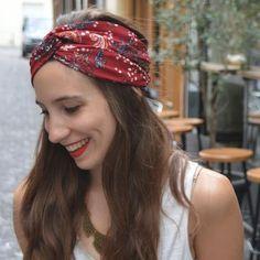 Coudre un twisted turban à partir d'un rectangle de tissu, c'est simple comme bonjour   Filoute