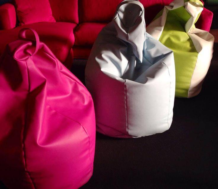 Poltrone sacco in ecopelle di diversi colori