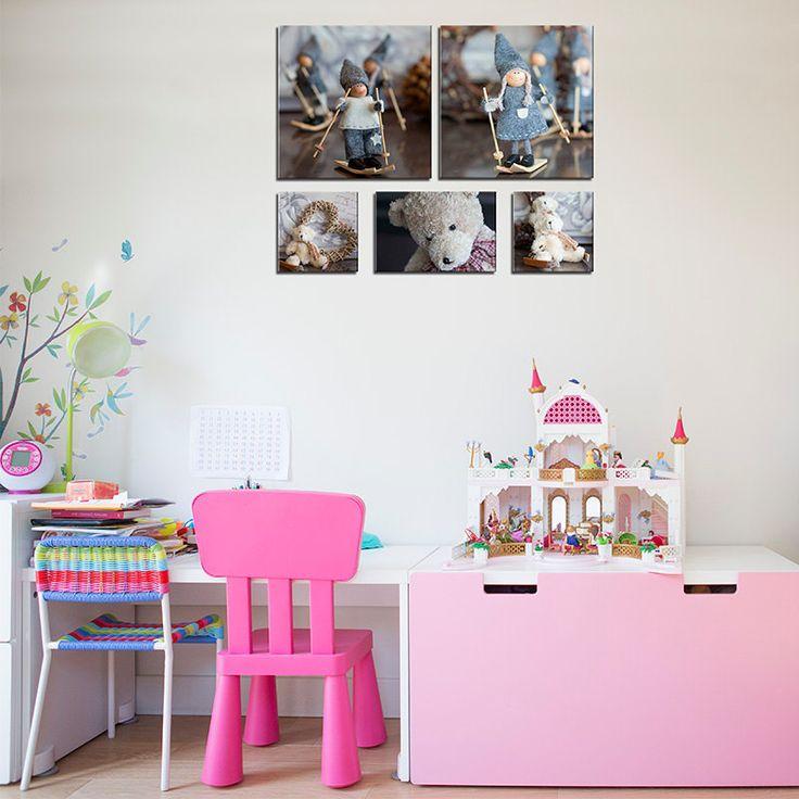 set of 11 canvas bathroom art girl and boy decorgirl baby