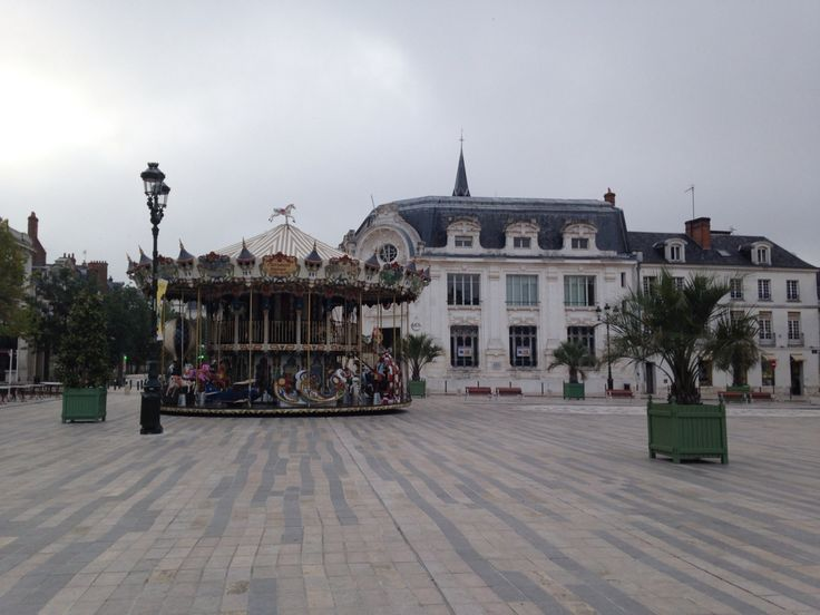 Old Town of Orleans, France. Place du Martroi.