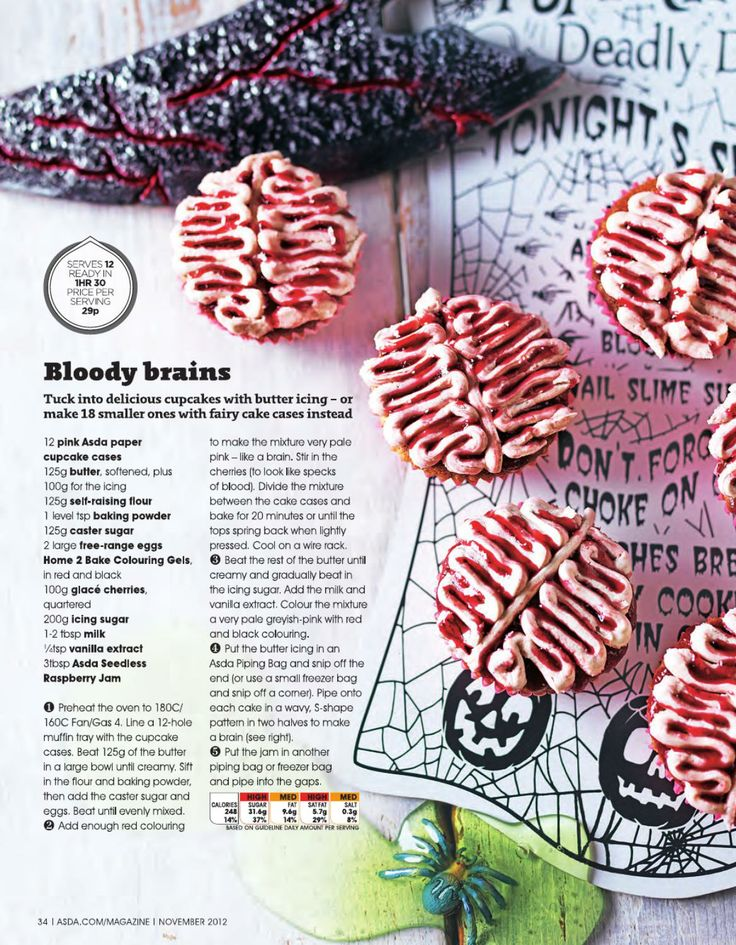 Asda magazine november 2012 yummy cupcakes cupcake