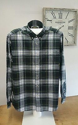 R M Williams Mens Long Sleeved Large Check Shirt XXL Regular Fit Button Collars