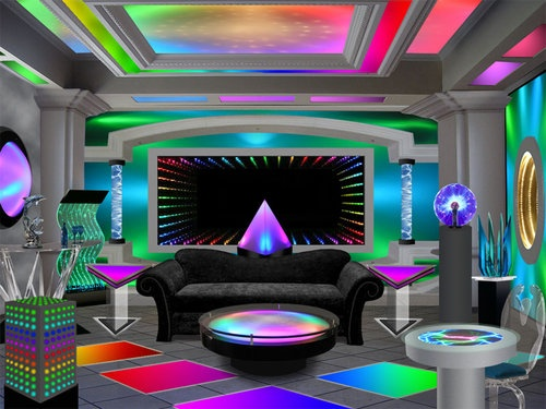 """Crazy Neon Room. woah! this is a dream♥!"""