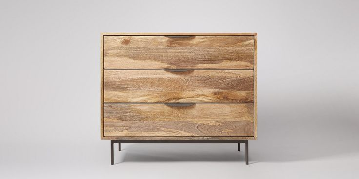 Avallon Mango & Black Chest Of Drawers   Swoon Editions