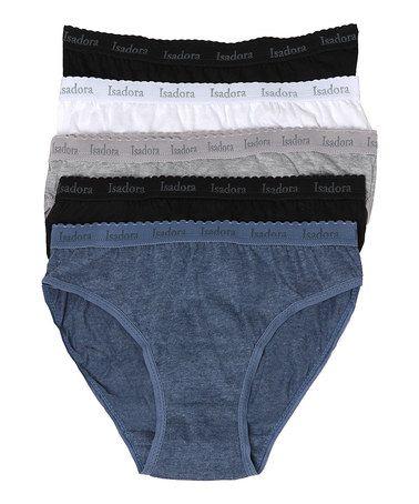 Blue & Neutral-Tone Bikinis Set - Plus Too #zulily #zulilyfinds