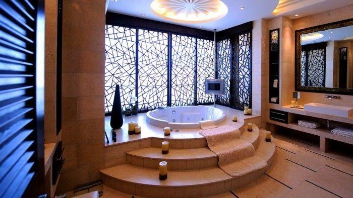 Un jeu avec la lumière - salle de bain style asiatique