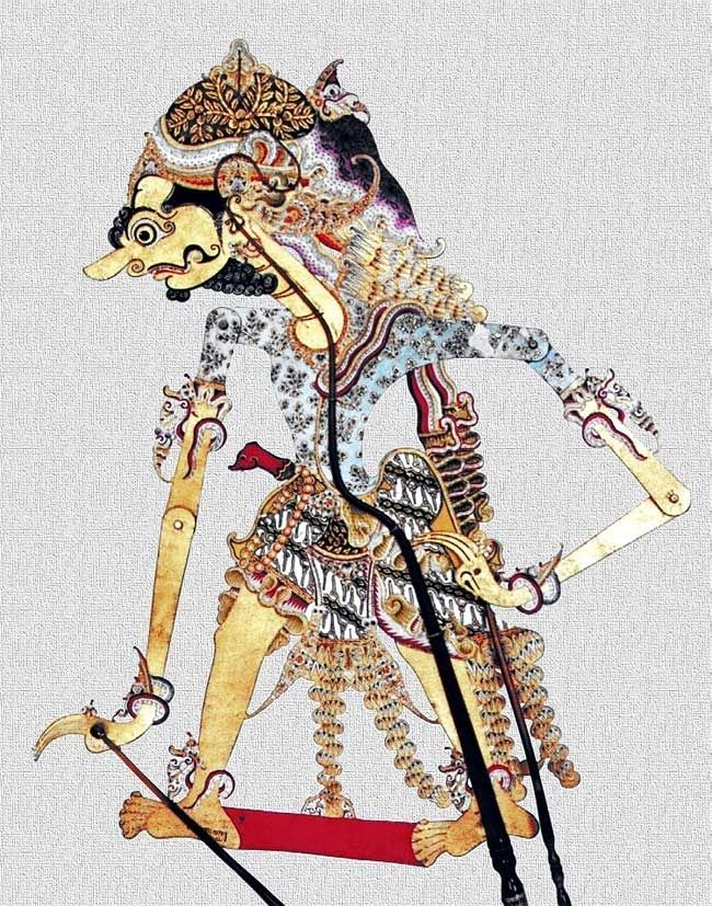 the god of ANTABOGA in human appearance (wayang kulit/ leather puppet)