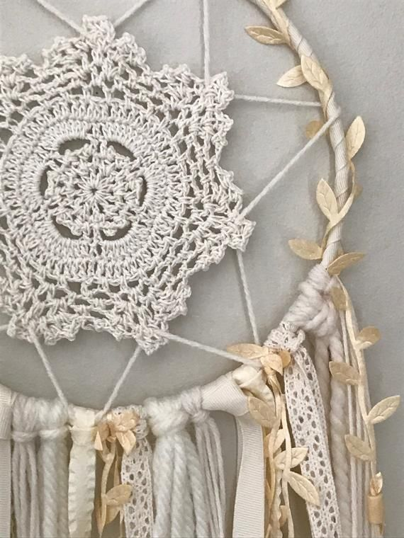 Ivory dreamcatcher wall hanging