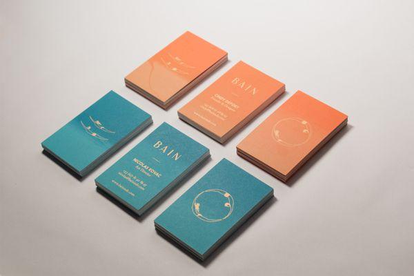 BAIN Silk Printed Business Cards by Nicola Kovac, via Behance