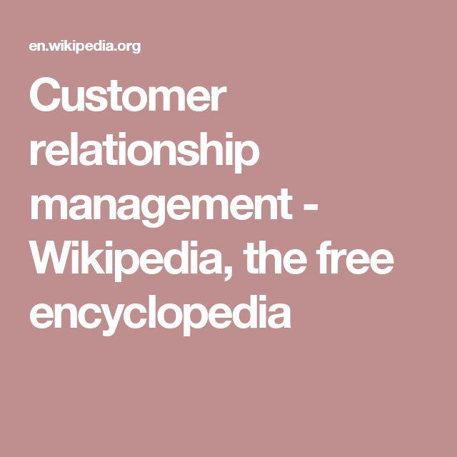 Customer relationship management - Wikipedia, the free encyclopedia