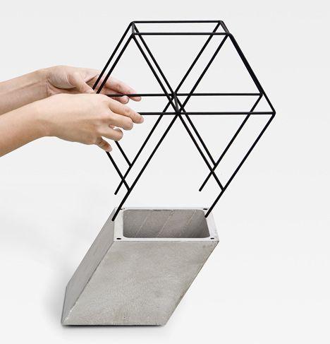 Plant pot - concrete / wire   Workaholic by THINKK Studio