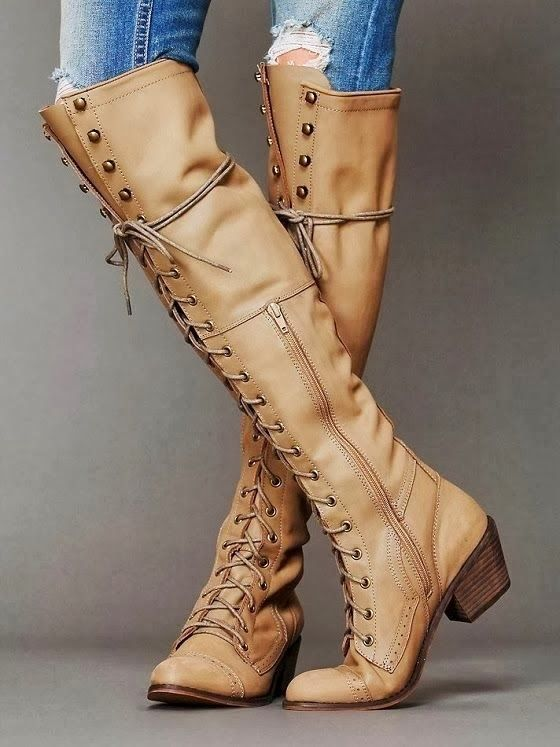 Adorable Lace-up Long Boots
