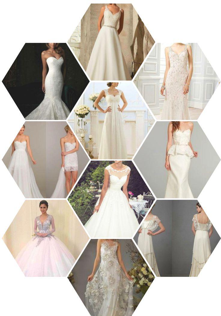 Princess ball gown? Dreamy mermaid? Simple sheath wedding dress? Find out what dress type matches your body and taste. For more tips on choosing your wedding dress, check out this list : https://goo.gl/K3z5lC
