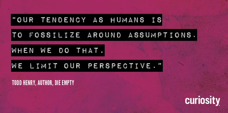 An excerpt from The Curiosity Cast interview with Todd Henry, author of Die Empty. #dieempty #toddhenry #curiosity