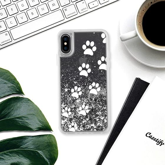 Cats Paws - Transparent White - Glitter Case #cats #paws #prints #iphone #case #glitter #iphonecase #footprints