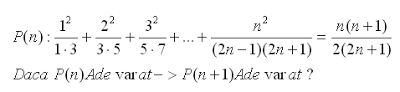 formule online probleme si exercitii rezolvate: Inductie matematica exercitiu rezolvat 12
