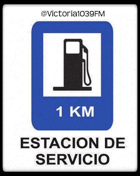 """#SeñalesDeTránsito """"Estación de Servicio"""" » indica la cercanía de una Estación de Servicio. Esta es una señal informativa que sirve para avisarnos sobre una fuente de combustible. Las autoridades que las instalan calculan la distancia adecuada para que haya tiempo de detenerse en la el lugar. Somos #TuRadioVial"""