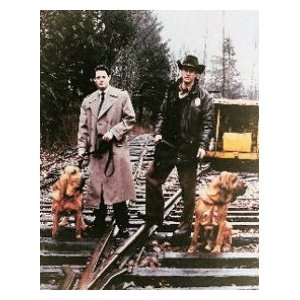 This 5 by 10 picture of Dale Cooper and Harry S. Truman if I:  1.Fast for 1 day  2.Get a cheap set of speakers for the computer  3. Get 2 pallets of cat food from Vokra