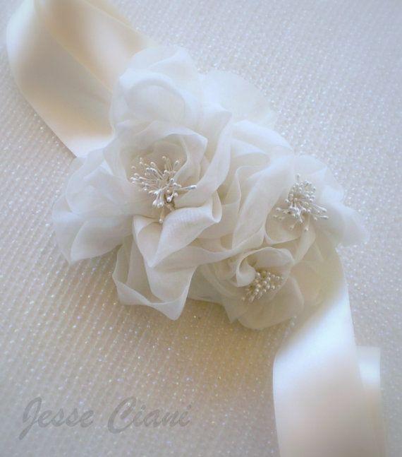 Bridal Sash or Belt  Finesse Wedding Belt or Sash by JesseCiani, $90.00: Etsy Wedding Sash, Wedding Flower Belts, Dresses Up, Floral Bridal Belts, Bridal Jewelry, Wedding Belts Sash, Bridal Sash And Belts, Belts Finess, Bridal Sash Belts