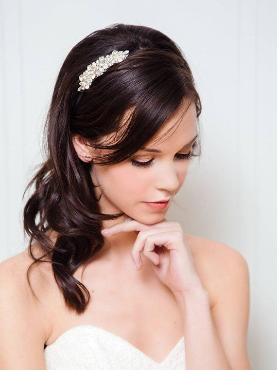Rhinestone Bridal Headband | Wedding Hair Accessories | Crystal Bridal Hairband [Celeste Headband]