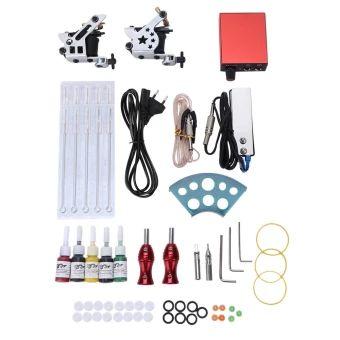 อย่าช้า  Professional Tattoo Kits Wrap Coils Guns Machine Shader Liner InksPower Supply Disposable Needles - EU PLUG (Grey) - intl  ราคาเพียง  1,140 บาท  เท่านั้น คุณสมบัติ มีดังนี้ The rubber bands can avoid machine vibration. Super thin mini stainless steel foot pedal is contained. 5pcs safe and lasting tattoo inks, easy to use ( per ink is 5ml). Stainless steel needle mouth: round tip for 3RL and flat tipfor 5M1. Professional quality foot pedal ( about 140 cm ), clip cord,power cord are…