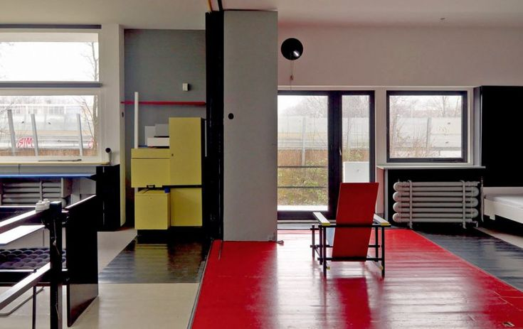 The Rietveld Schroeder House is an example of the De Stijl archietcture, World Heritage Site.