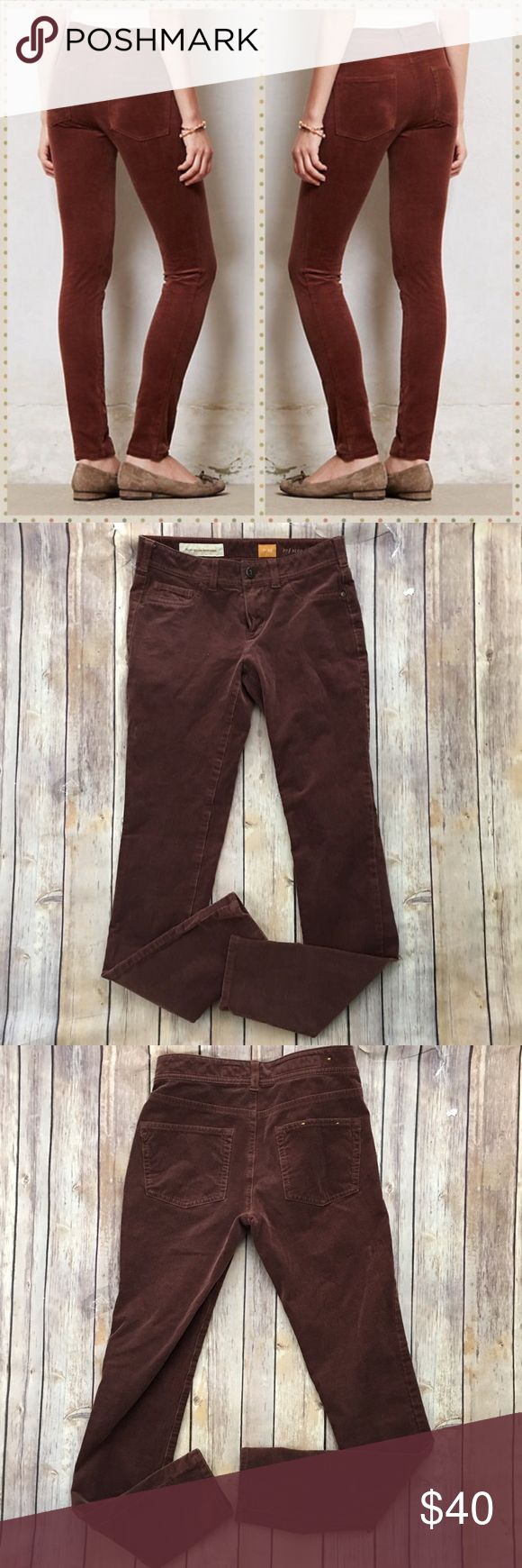 """Anthropologie Pilcro Serif Corduroy Leggings Brown Tag size - 25 Waist Measured Across - 13.5"""" Inseam - 29"""" Rise - 7.5"""" Great used condition! Always open to reasonable offers. Anthropologie Pants Leggings"""