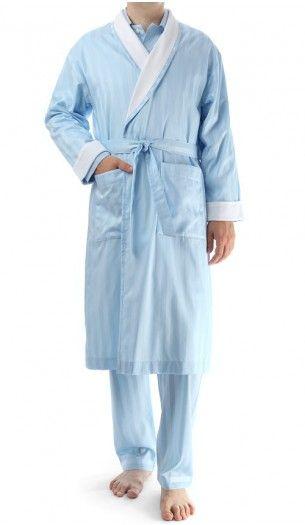 ff3d192874 Novila Morgenmantel - George - 2 hellblau Mens Sleepwear