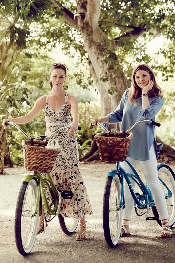 """All in the Family - Barbara Bush and Jenna Bush Hager: The SL Photoshoot - Southernliving. Barbara was named for her paternal grandmother, former First Lady Barbara Bush. Jenna was named after Laura Bush's mother, Jenna Hawkins Welch. """"Our grandmothers taught us to dress to make ourselves happy,"""" says Jenna."""