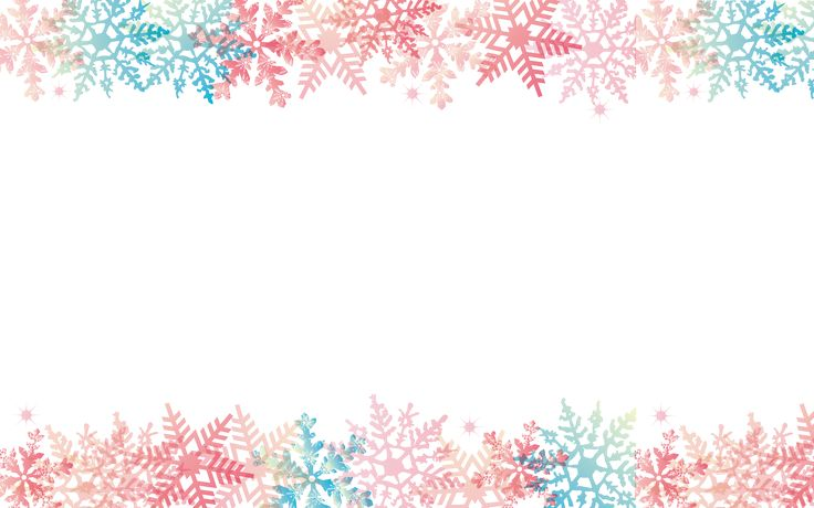 Snowflakes - Cute Christmas desktop - 39.7KB