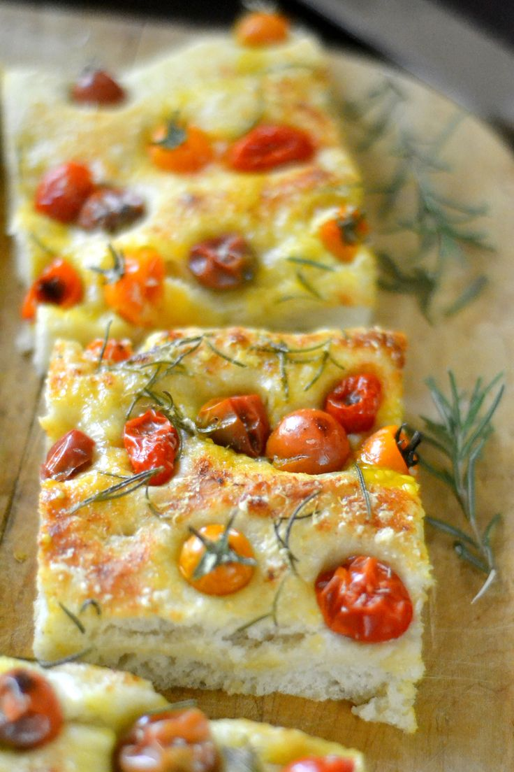 Juicy cherry tomato focaccia --- this is the easiest bread I make.