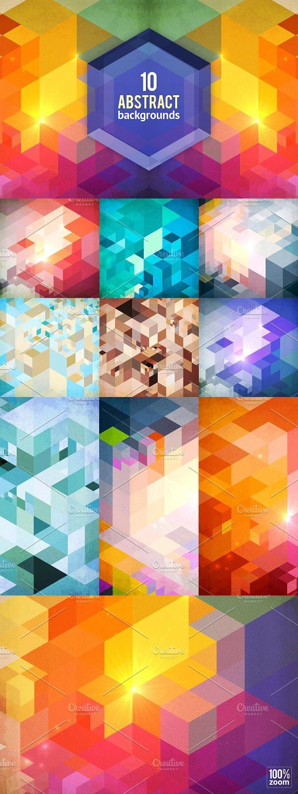 10 textured abstract backgrounds. Patterns. $10.00