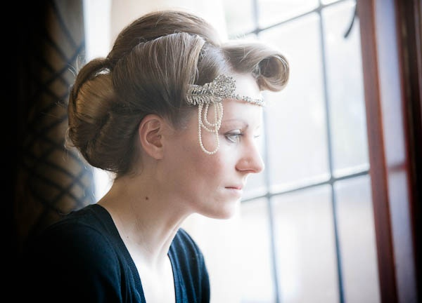vintage style wedding hair, image by Matt Foden Photography