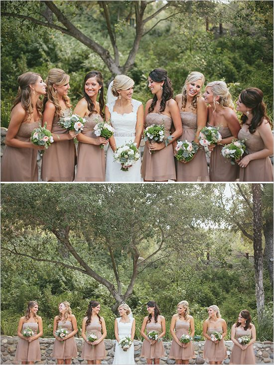 dusty rose bridesmaid dresses | Wedding Chicks Feature | John Robert Woods Photography | Rancho Las Lomas | 24 carrots Catering