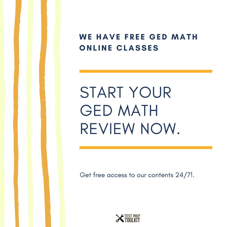 Who here has tried our free math online classes? Did it help you with your preparation?   If you haven't watched it, check it here: http://www.testpreptoolkit.com/ged-math-classes-online/?utm_content=bufferfd64c&utm_medium=social&utm_source=pinterest.com&utm_campaign=buffer  #Study #Guide #TestPrepToolkit #GEDStudy #GEDPracticeTest #Learning