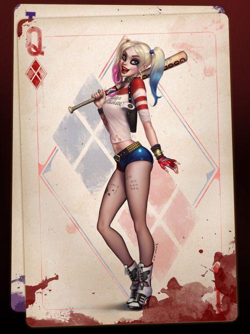 Harley queen en carte