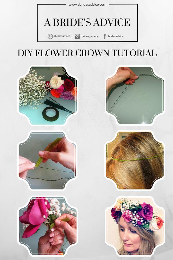 How to make a flower crown at home | DIY Flower Crown | DIY Bride | Flower Crown Tutorial | Wedding Planning Blog | A Bride's Advice