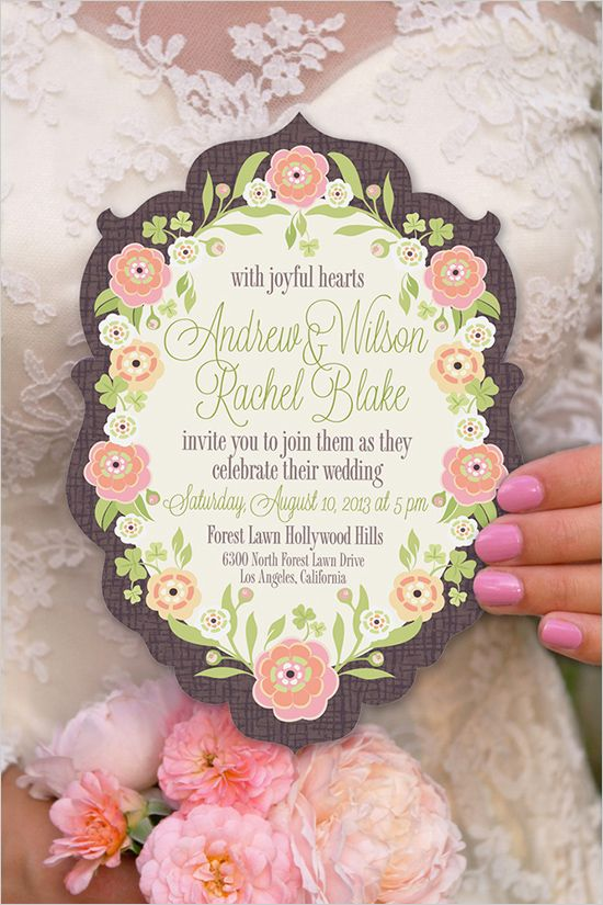 Colorful and whimsical wedding stationery by Sheri McCulley Studio. #wchappyhour #weddingchicks