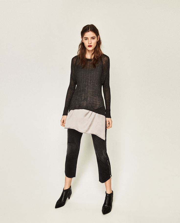 ASYMMETRIC DOUBLE EFFECT SWEATER - Available in more colours
