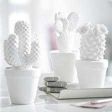 White porcelain cactus