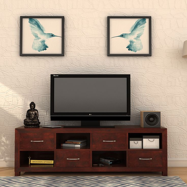 Weston TV Unit has amazingly magnifying four open shelves and drawers to organise your DTH #setup box, #home theater system, gaming console, DVDs and so on. It lights up and gives an aesthetic appeal to your #living area.