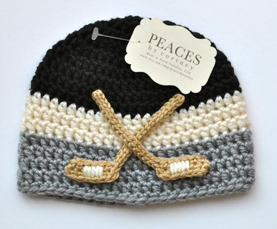 Hockey Baby Hat - need to get for next winter!