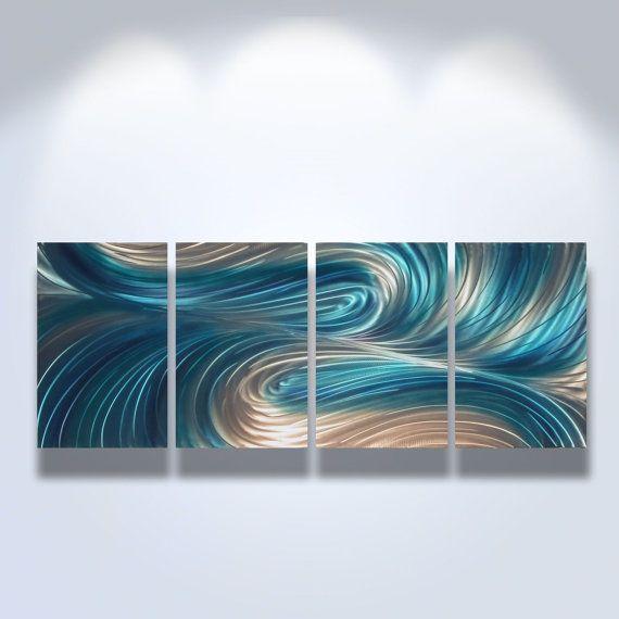 Blue Wall Art Decor best 25+ abstract metal wall art ideas on pinterest | metal wall